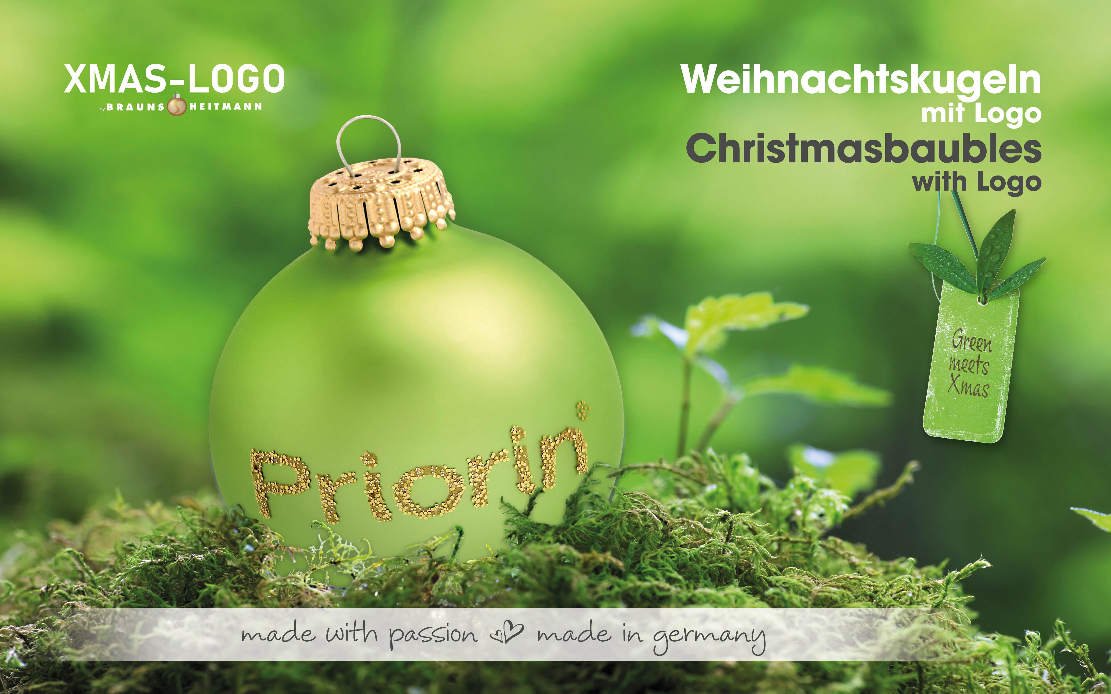 Nachhaltige Weihnachtskugel